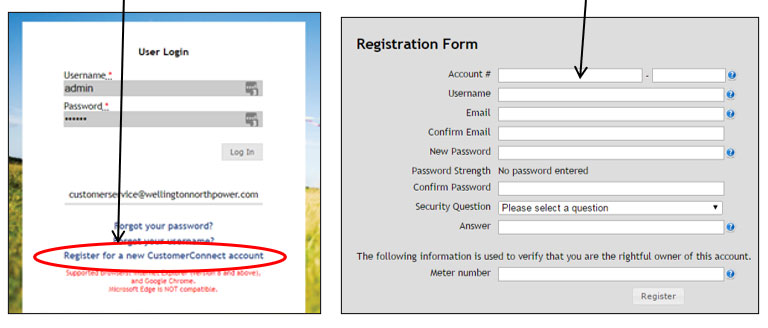 customer connect registration